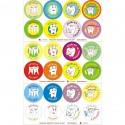 Gadget for kids, tooth sticker, set of 96 pcs