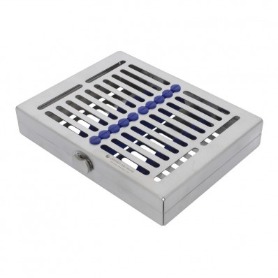 Sterilization cassette for 8 pcs, 2.5 x 14 x 18 cm